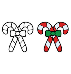 christmas candy stick icon on white background vector image
