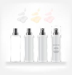 Cosmetic bottle transparent bottle vector
