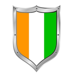 Cote dIvoire flag button vector image