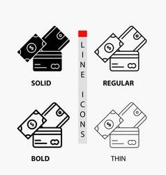credit card money currency dollar wallet icon in vector image