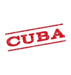 Cuba Watermark Stamp vector