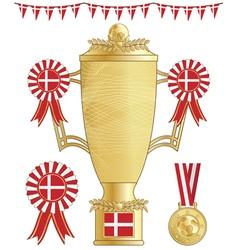 Denmark football trophy vector