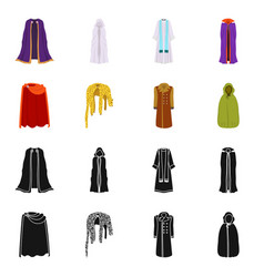 design of material and clothing icon set vector image