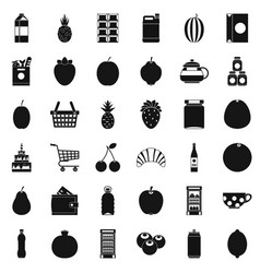 Different beverage icons set simple style vector