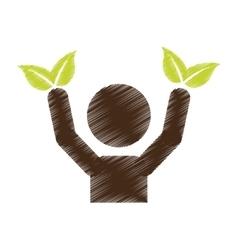 Eco friendly emblem icon image vector