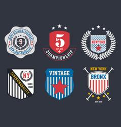 emblem collection 3 vector image