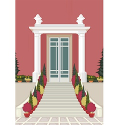 Entrance house vector