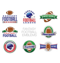 Fantasy Football Emblems vector