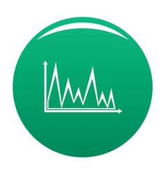 finance graph icon green vector image