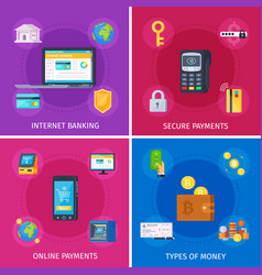 Financial technology flat concept vector
