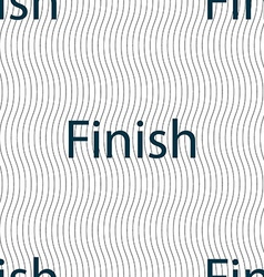 Finish sign icon Power button Seamless pattern vector