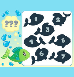 Fish riddle theme image 7 vector