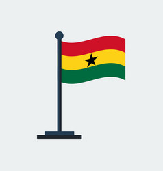 flag of ghanaflag stand vector image