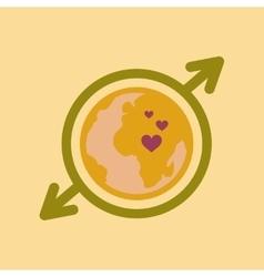 Flat icon on stylish background Earth gays symbol vector