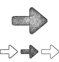 Forward icon set - sketch line art vector