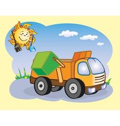 garbage truck vector image