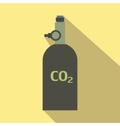 Gas hand grenade flat icon vector image