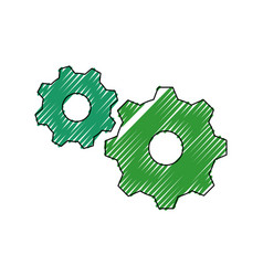 gears machinery pieces vector image