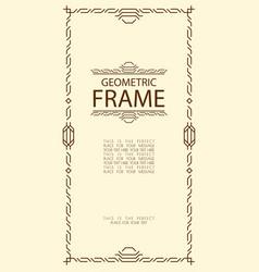 geometric frame line style vector image