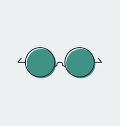 Glasses line flat icongraphic design vector