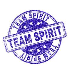 Grunge textured team spirit stamp seal vector