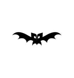 halloween scary bat icon vector image