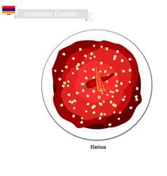 Harissa or Armenian Hot Chili Pepper Paste vector