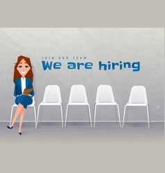 Human resources interview recruitment young vector