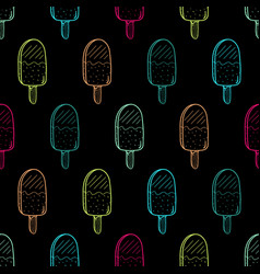 Ice cream color pattern linear037 vector