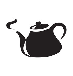icon black kettle vector image