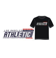la athletic sport typography design vector image