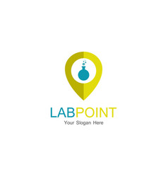 lab point logo vector image