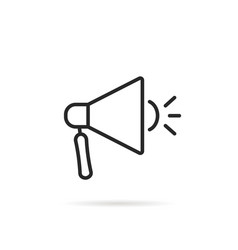 linear megaphone like mobile app icon vector image