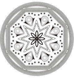 mandala with black outline vector image