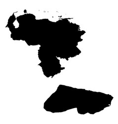 Map venezuela and caracas country and capital vector