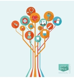 medical tree concept vector image