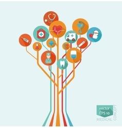 Medical tree concept vector