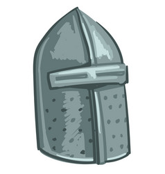 medieval helmet part knight iron armour vector image