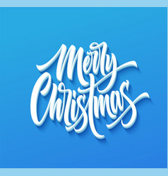 merry christmas drop shadow lettering vector image