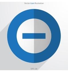 Minus web flat icon vector
