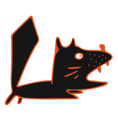 modern design running black cat with open vector image