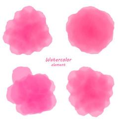 pink watercolor blotch set of pinl watercolor vector image