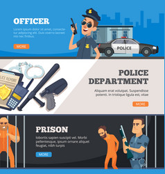 police banners urban security officer vector image