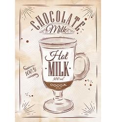 Poster chocolate milk kraft vector