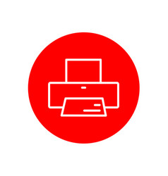 printer device office outline red icon design vector image