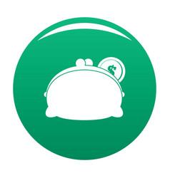 purse woman icon green vector image