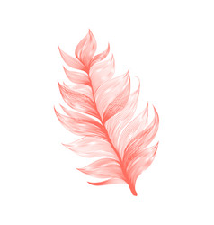 realistic isolated flying feather vector image