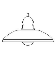 Retro household lamp and floor lamp icon vector
