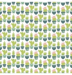 seamless pattern with succulent plants and vector image