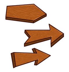 set cartoon wooden boards design element vector image